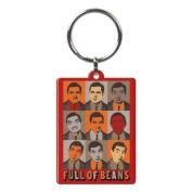 Mr Bean Full Of Beans Metal Keyring