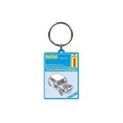 Haynes Manual Mini Cooper Car Metal Keyring