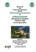 Proceedings of the 13th European Conference on e-Government