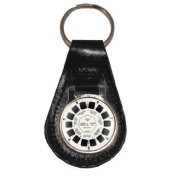 Leather Keyring with 3D Viewing Toy Wheel design