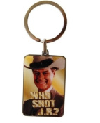 Dallas Keyring. Who Shot JR Photo Keyring