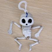 Funny Wind-up Skeleton Skull Keychain Toy