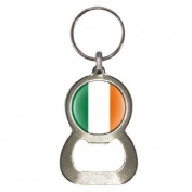 Bottle Opener Keyring with Irish Flag design