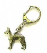 Toy Terrier Keyring Silver Finish