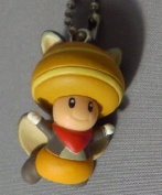New Super Mario Bros.U Mascot Figure Keychain ~Toad Musasabi flying squirrel