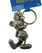 Disney Mickey Mouse Keychain - Mickey Pewter Keyring [Toy] [Toy]