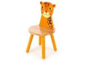 Tidlo wood Leopard Chair, 26 cm