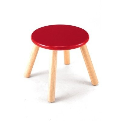 Cool Pintoy Wooden Red Stool Machost Co Dining Chair Design Ideas Machostcouk