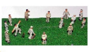 N Scale (1/148th) Model Kit Cricket Game Figures This item is NOT a TOY - Please Read Full Product Description.