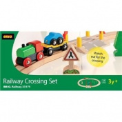 Brio Wooden Train Railway Crossing Set