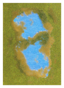 Lake With Grass & Reed Shore - Fibre mat 297x210mm