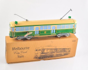Tin classic vintage Melbourne tram scale model lithograph Wind-up