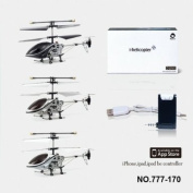 I-Helicopter iPad iPhone iPod Touch Control iHelicopter 3CH RC Remote Control Helicopter 777-170 with Gyro
