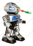 Large 38cm RC Remote Controlled Interactive Programmable Robot - Shoots Frisbees, Walks, Slides, Dances, Talks with Sound and Lights