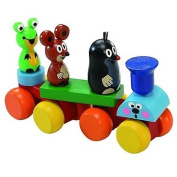 The little Mole wooden train with friends 13344