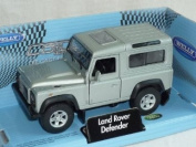Land Rover Defender 3 Toerer Silber Ca 1/43 Welly Modellauto Modell Auto