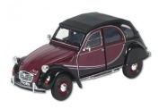 Welly 24009 Collector's Model Car Citroën 2CV6 Charleston / 1:24 Scale / Metal / Dark Red / Black