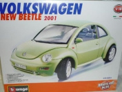 VW Volkswagen New Beetle Coupe Groen 2001 Kit Bausatz 1/18 Bburago Burago Modellauto Modell Auto