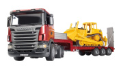 Blue da SCANIA truck & CAT bulldozer bruder-03555 play rial product made in working car boy toy 1/16 scale Germany