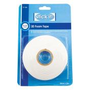 Stick it 5 m x 18 mm 3D Foam Tape, White