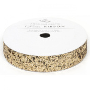 Solid Large Glitter Ribbon .1590cm 3 Yards-Gold