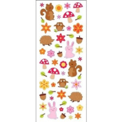 Puffy Classic Stickers-Woodland Animals