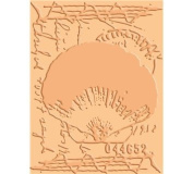 Cuttlebug A2 Embossing Folder-Shell Collage