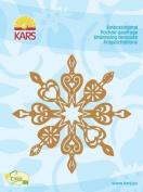 Kars Embossing Stencil - Snowflake Crystal, 10x10cm