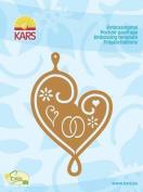 Kars Embossing Stencil - Pendant Heart, 10x7cm