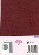 Pergamano Passe-Partout Cards - Aubergine/Salmon #4109