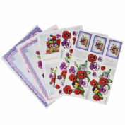 Papermania A4 Decoupage Card Pack - Pansy