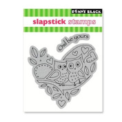 """Penny Black Cling Rubber Stamp 10cm X5""""-Owl Be Yours"""