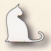 PoppyStamps Die, Sitting Cat by Memory Box