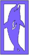 Kars Silhouette Stencil - Dolphin, 15x8cm