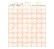 12 x 12' Fabric Paper (Self Adhesive) - Vintage Notes - Filigree