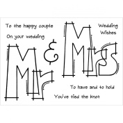 "Woodware Clear Stamps 8.9cm X5.5""-Huge Mr & Mrs"