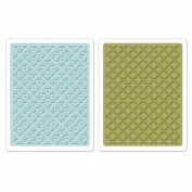 Sizzix Textured Impressions A2 Embossing Folders 2/Pkg-Dotted Squares