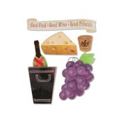 Winery Stacked Stickers 5/Pkg-Culinary
