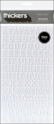Thickers Foam Stickers 15cm x 28cm Sheets 2/Pkg-Rockabye - White