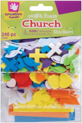 Creative Hands Foam Stickers, Church