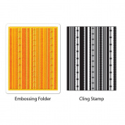 Sizzix Textured Impressions Embossing Folder & Stamp Set-Hero Arts Fun Stripes