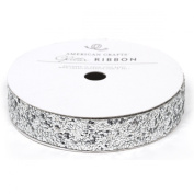 Solid Large Glitter Ribbon .1590cm 3 Yards-Silver