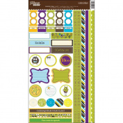 Monster Stew Cardstock Stickers 18cm x 33cm -
