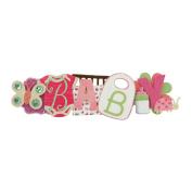 """Baby Girl Stacked Statement Sticker 6.4cm X9""""-"""