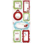 Cottage Christmas Sticker Stackers 13cm x 30cm Sheet-Holly Jolly