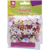Fibre Craft 6021E Foam Stickers 320-Pkg-Mini Flowers