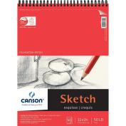 Pro-Art 702543 Foundation Wire Bound Sketch Pad 28cm . x 36cm . 50 Sheets-Pad