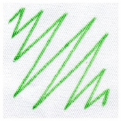 1 x Green Dylon Fabric T Shirt Marker Pen Broad Nib Black