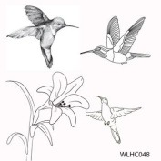 Clear stamp set Hummingbirds