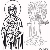 Clear stamp set Madonna and Angels